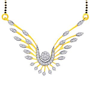 Buy Nirvana Yellow Gold Diamond Mangalsutra online