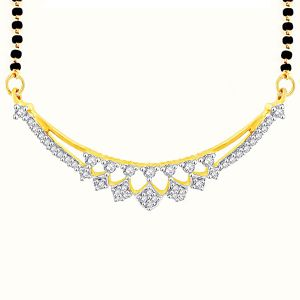 Buy Gili Yellow Gold Diamond Mangalsutra online