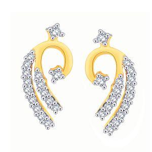 Buy Asmi Yellow Gold Diamond Earrings Aaep046si-jk18y online