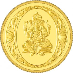 Buy 1gm Gitanjali Trust Forever 995 Purity Ganesh Gold Coin online