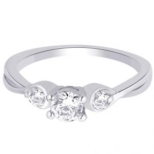 Buy Hoop Silver With Cz Diamond Silver Ring For Womens Rf5012 online