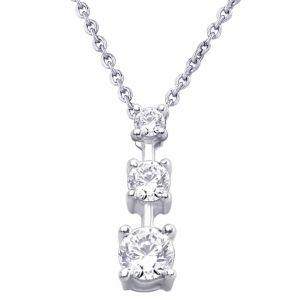 Buy Hoop Silver Cz Diamond Silver Pendant For Women Pf4099 online