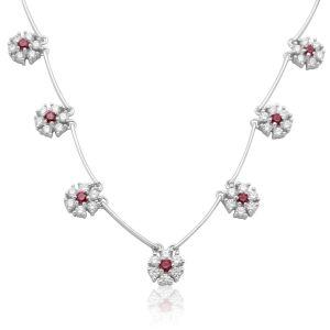 Buy Hoop Silver Cz Diamond Silver Pendant For Women Nf4387 online