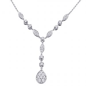 Buy Hoop Silver Cz Diamond Silver Pendant For Women Nf4443 online