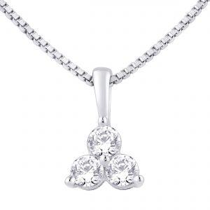 Buy Hoop Silver Cz Diamond Silver Pendant For Women Pf4101 online