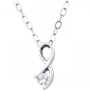 Buy Hoop Silver Cz Diamond Silver Pendant For Women Pf4659 online
