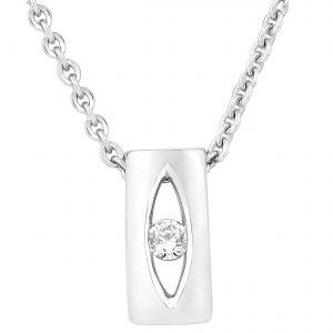 Buy Hoop Silver Cz Diamond Silver Pendant For Women Pf4741 online