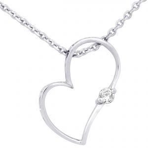 Buy Hoop Silver Cz Diamond Silver Pendant For Women Pf4949 online