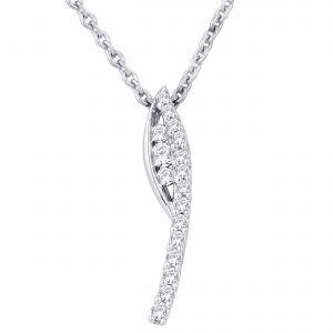 Buy Hoop Silver Cz Diamond Silver Pendant For Women Pf4958 online