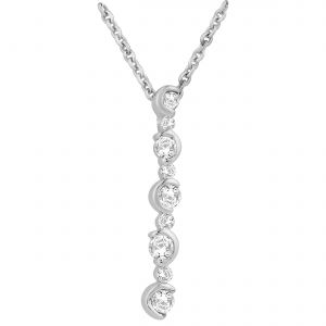 Buy Hoop Silver Cz Diamond Silver Pendant For Women Pf4960 online
