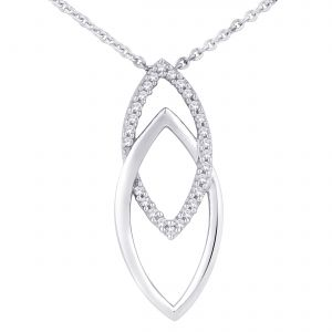 Buy Hoop Silver Cz Diamond Silver Pendant For Women Pf4966 online