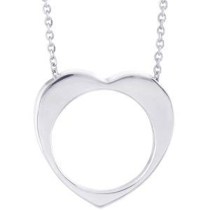 Buy Hoop Silver Cz Diamond Silver Pendant For Women Pf8431 online