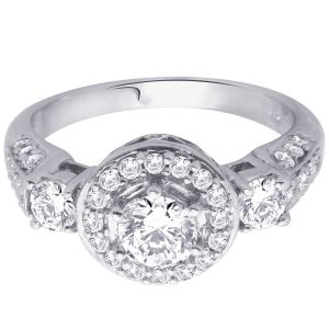 Buy Hoop Silver With Cz Diamond Silver Ring For Womens Re1087 online
