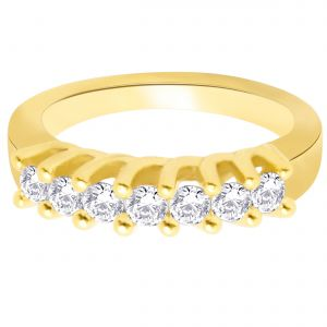 Buy Hoop Silver With Cz Diamond Gold Plated Ring For Womens Rf4272 online