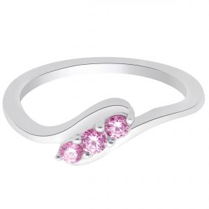 Buy Hoop Silver With Cz Diamond Purple Ring For Womens online