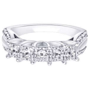 Buy Hoop Silver With Cz Diamond Silver Ring For Womens online