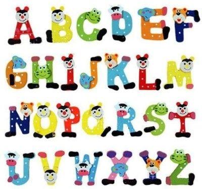 buy kuhu creation fridge cartoon magnet wooden stickers alphabets