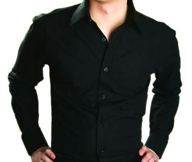 Buy Stylish Party Wear Black Shirt For Men Online | Best Prices in ...