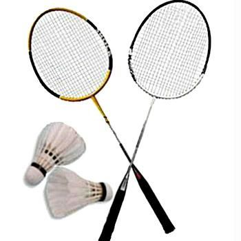 Badminton  a-pair-of-badminton    Badminton Racket And Shuttlecock