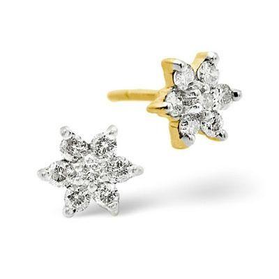 Ag Real Diamond Traditional Nakshatra Earrings Online
