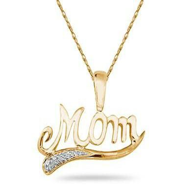 Buy ag real diamond mother name pendant online best prices in buy ag real diamond mother name pendant online mozeypictures Gallery