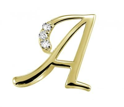 Buy Kiara a Alphabet Design American Diamond Pendant line