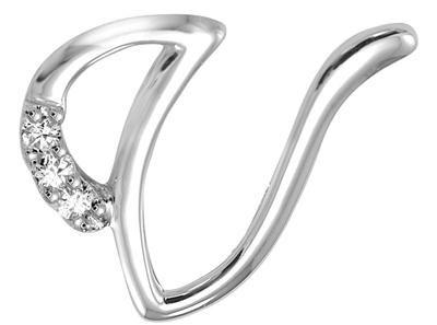 V Alphabet In Diamond Buy Kiara  v  Alphabet Design