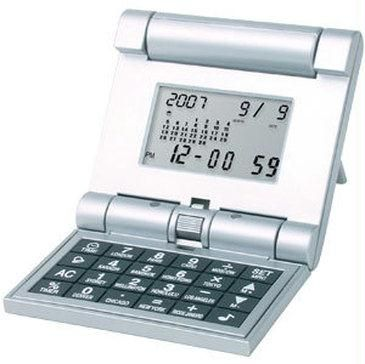 Buy World Time 3 Fold Calendar Travel Calculator Clock Online Best