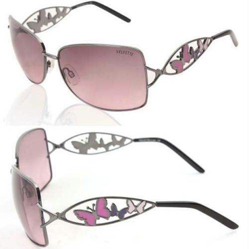Velvette Pink Butterflies Sunglasses