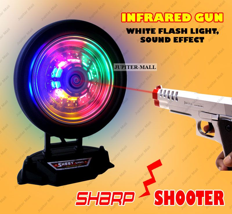 buy sharp shooter laser infrared gun pistol shooting game kids toys