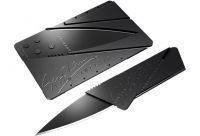 Buy Ian Sinclair Portable Camping Credit Card Safety Black Folding Knife Blade online