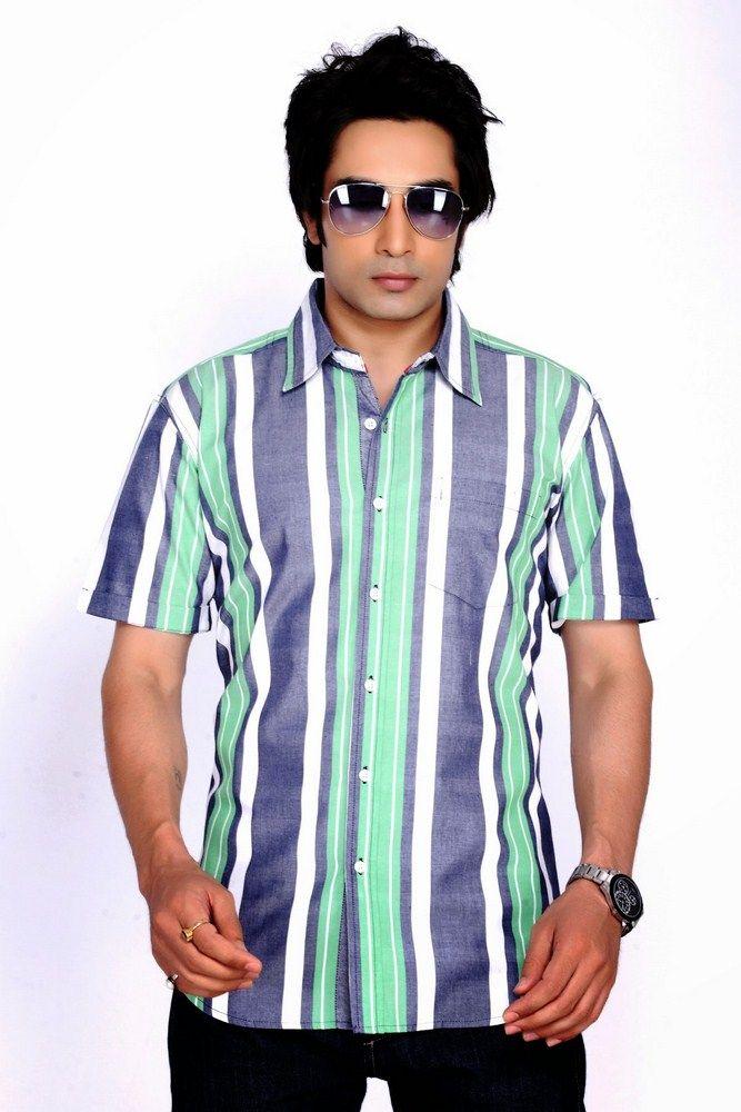 Buy Moksh Striped Casual Cotton Shirt For Mens - (code - V2ims0414-09) online