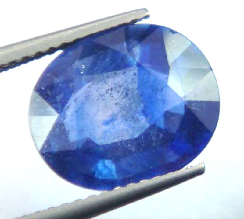 Buy Lab Certified 5.78cts{6.42 Ratti}transparent Natural Blue Sapphire/neelam online