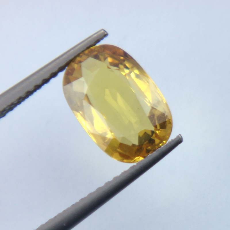 Buy Lab Certified Top Grade 3.05cts Natural Yellow Sapphire/pukhraj online