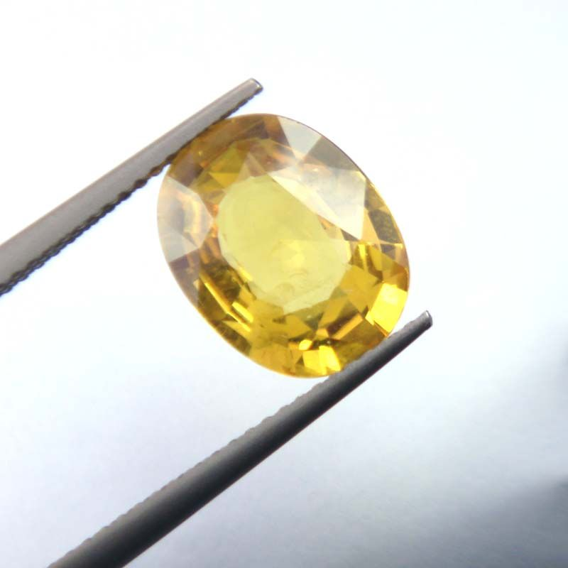 Buy Lab Certified Top Grade 4.33cts Natural Yellow Sapphire/pukhraj online