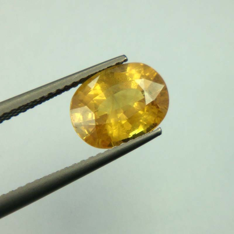 Buy Lab Certified Top Grade 3.43cts Natural Yellow Sapphire/pukhraj online