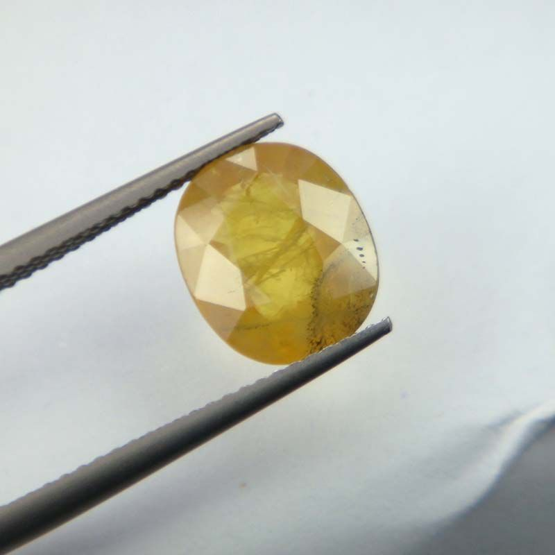 Buy Lab Certified Top Grade 3.86cts Natural Yellow Sapphire/pukhraj online