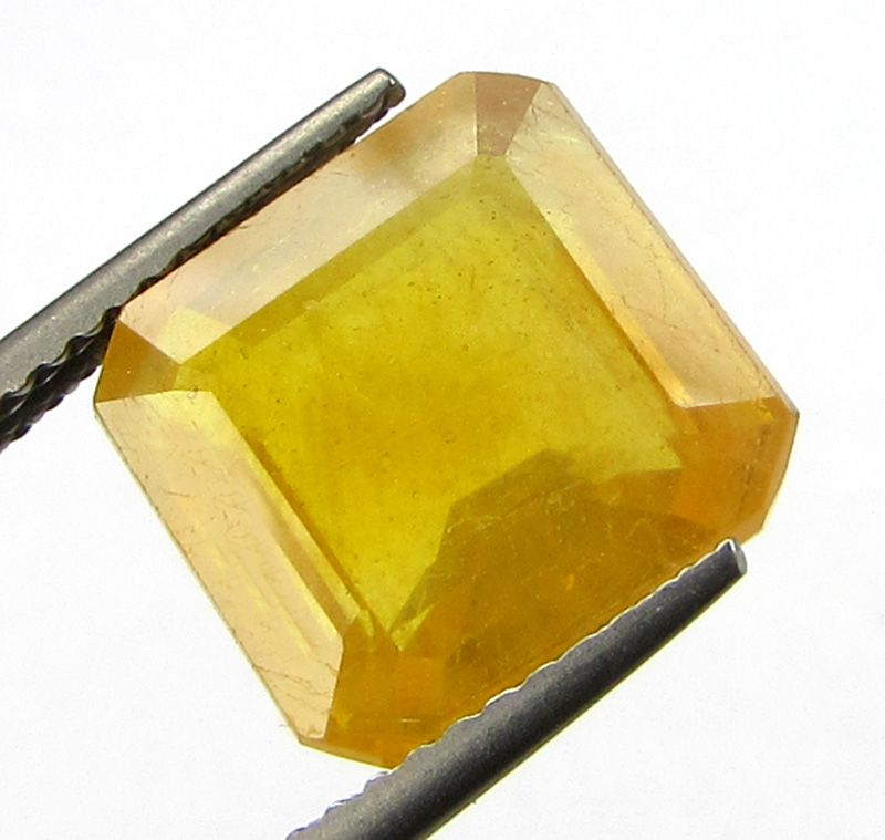 Buy Lab Certified 7.50cts Natural Yellow Sapphire/pukhraj online