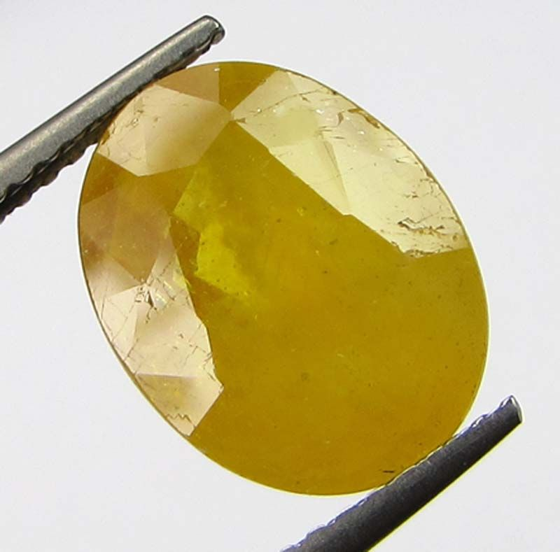 Buy Lab Certified 6.65cts Natural Yellow Sapphire/pukhraj online