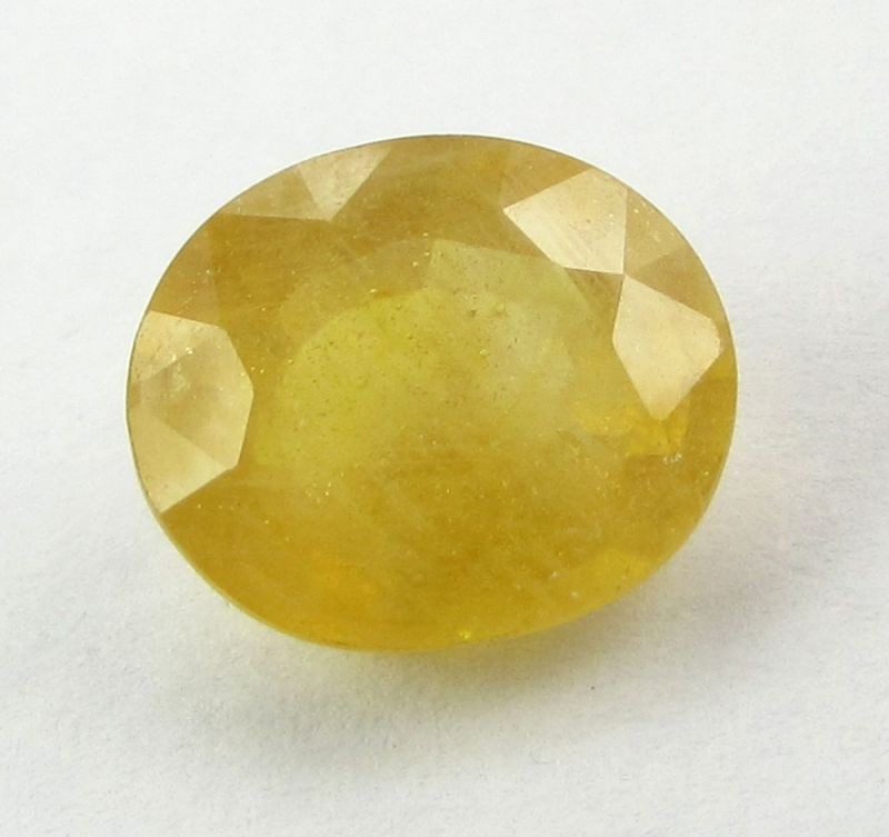 Buy Lab Certified 5.02Cts Natural Yellow Sapphire/Pukhraj online