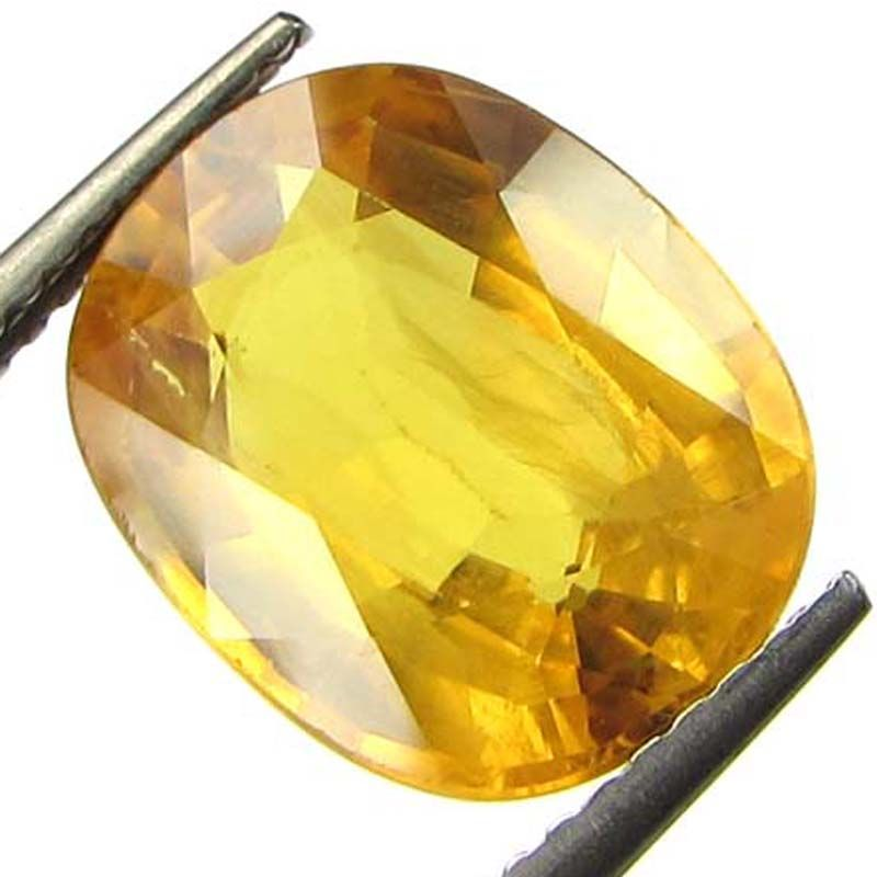 Buy Lab Certified~5.95cts Natural Yellow Sapphire/pukhraj online