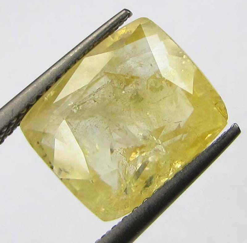 Buy Certfd 8.56ct Natural Ceylon Yellow Sapphire/pukhr online