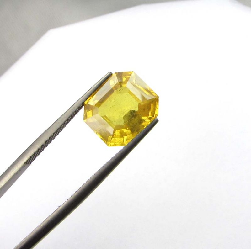 Buy Top Grade 6.12cts Natural Top Yellow Sapphire/pukh online