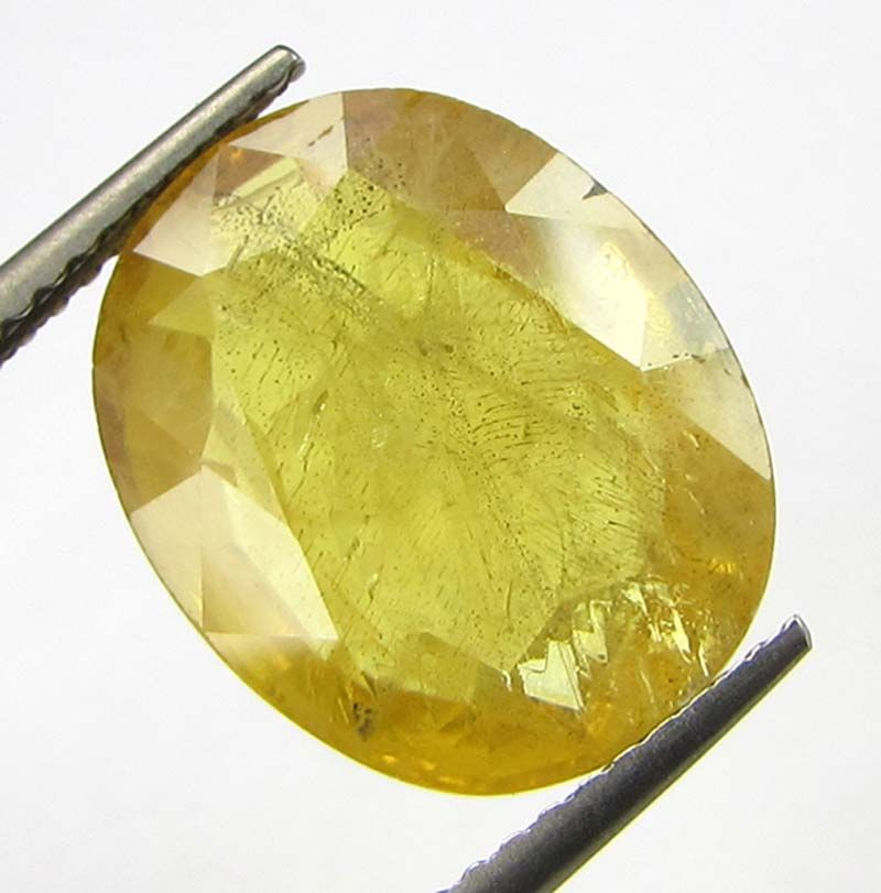 Buy Lab Certified 8.95cts Natural Yellow Sapphire/pukhraj online