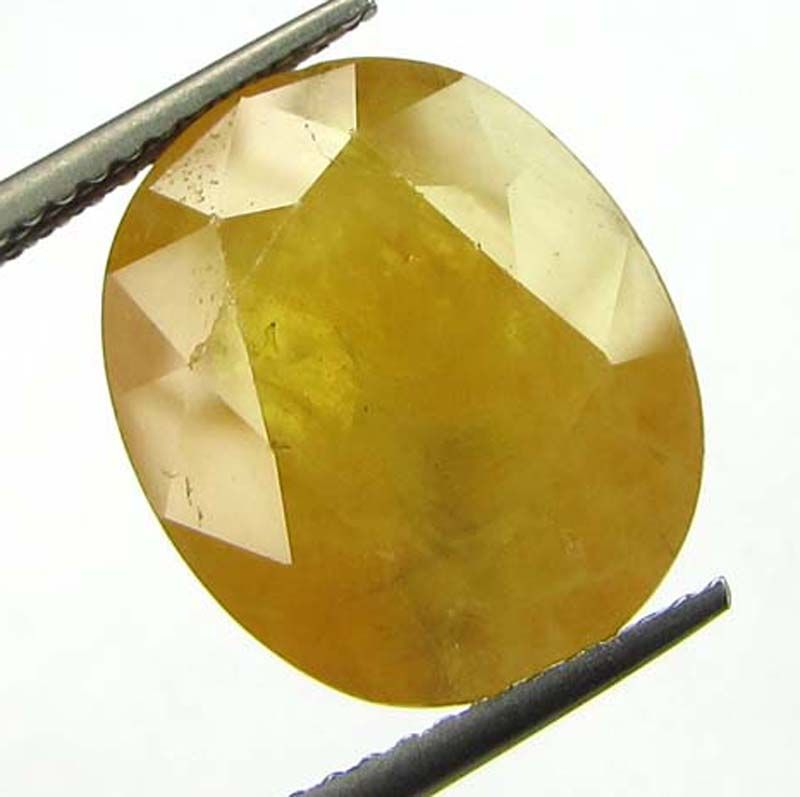 Buy Lab Certified 9.80cts Natural Yellow Sapphire/pukhraj online