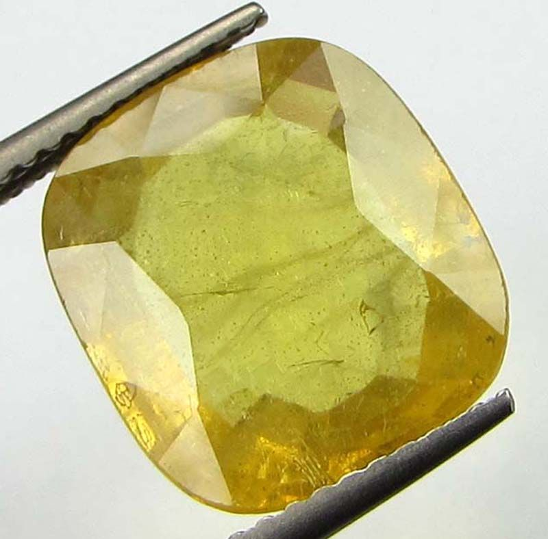 Buy Lab Certified Top Grade 7.09cts Natural Yellow Sapphire/pukhraj online