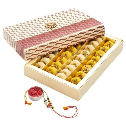 Buy Punjabi Ghasitaram 2017 Rakhi Special Mix Mawa Peda Sweet Box With Rakhi online