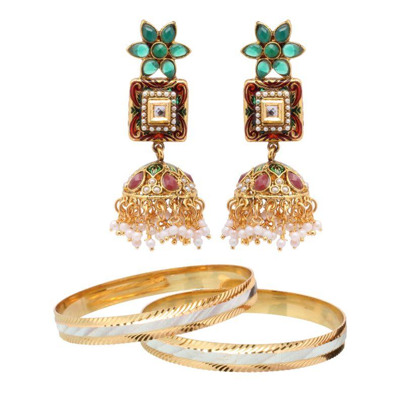 Buy Vendee Fashion Stylesh Look Combo Jewellery (1462) online