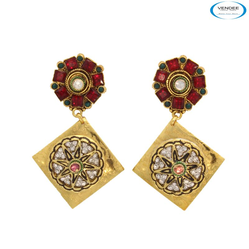Buy Vendee Copper Fashion Earrings online