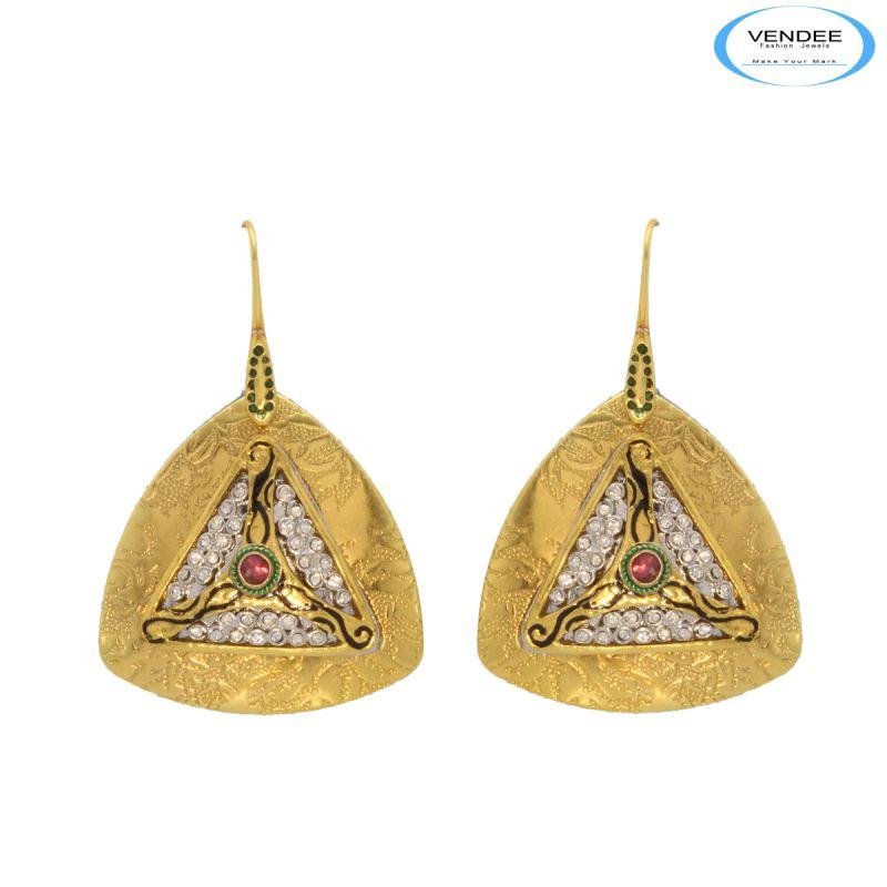 Buy Vendee Diamond Fashion Copper Earrings online
